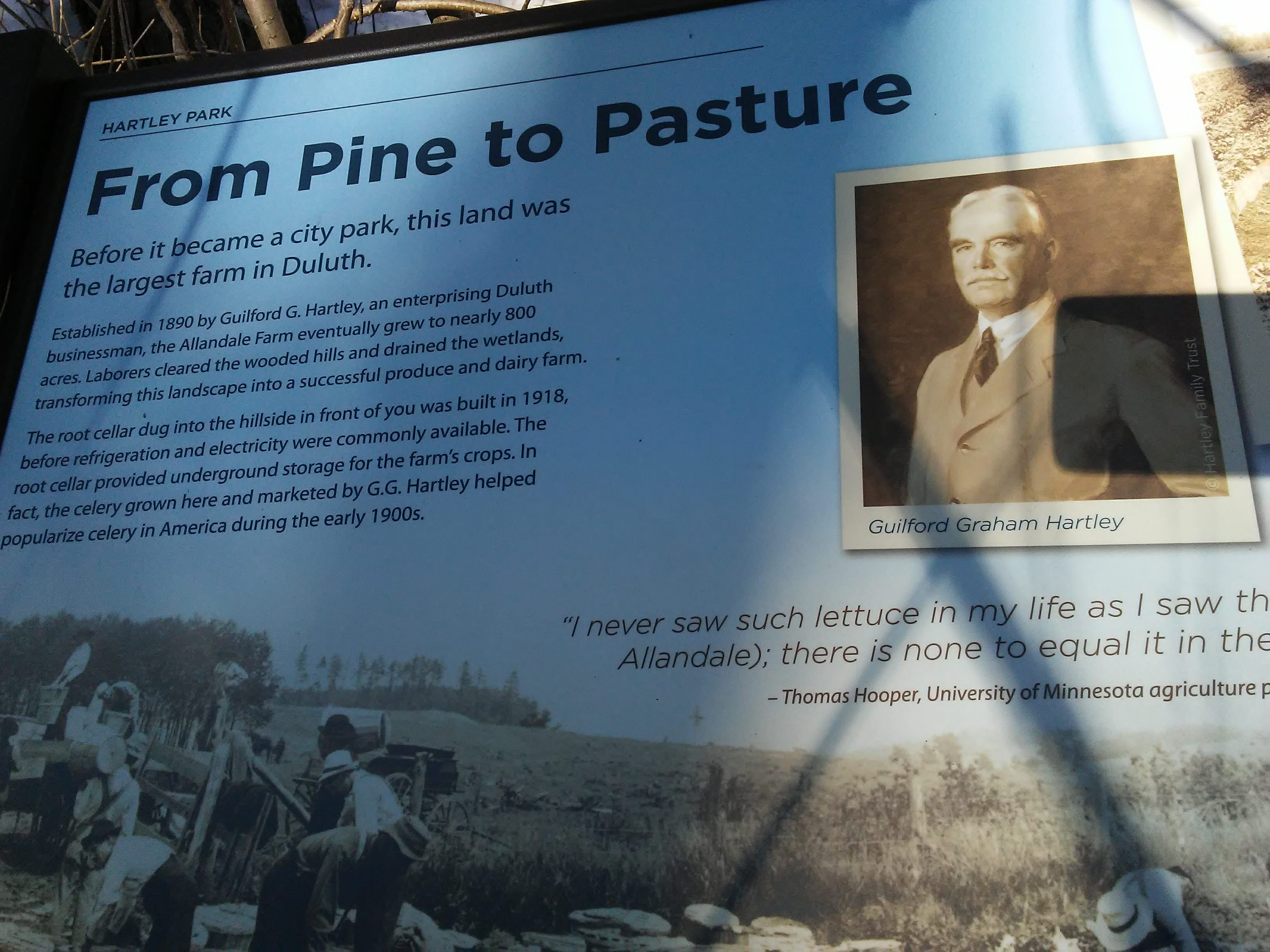 "Informational sign ""From Pine to Pasture"""