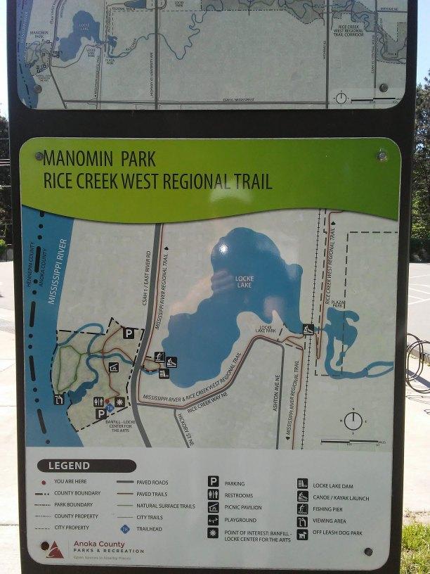 park sign map