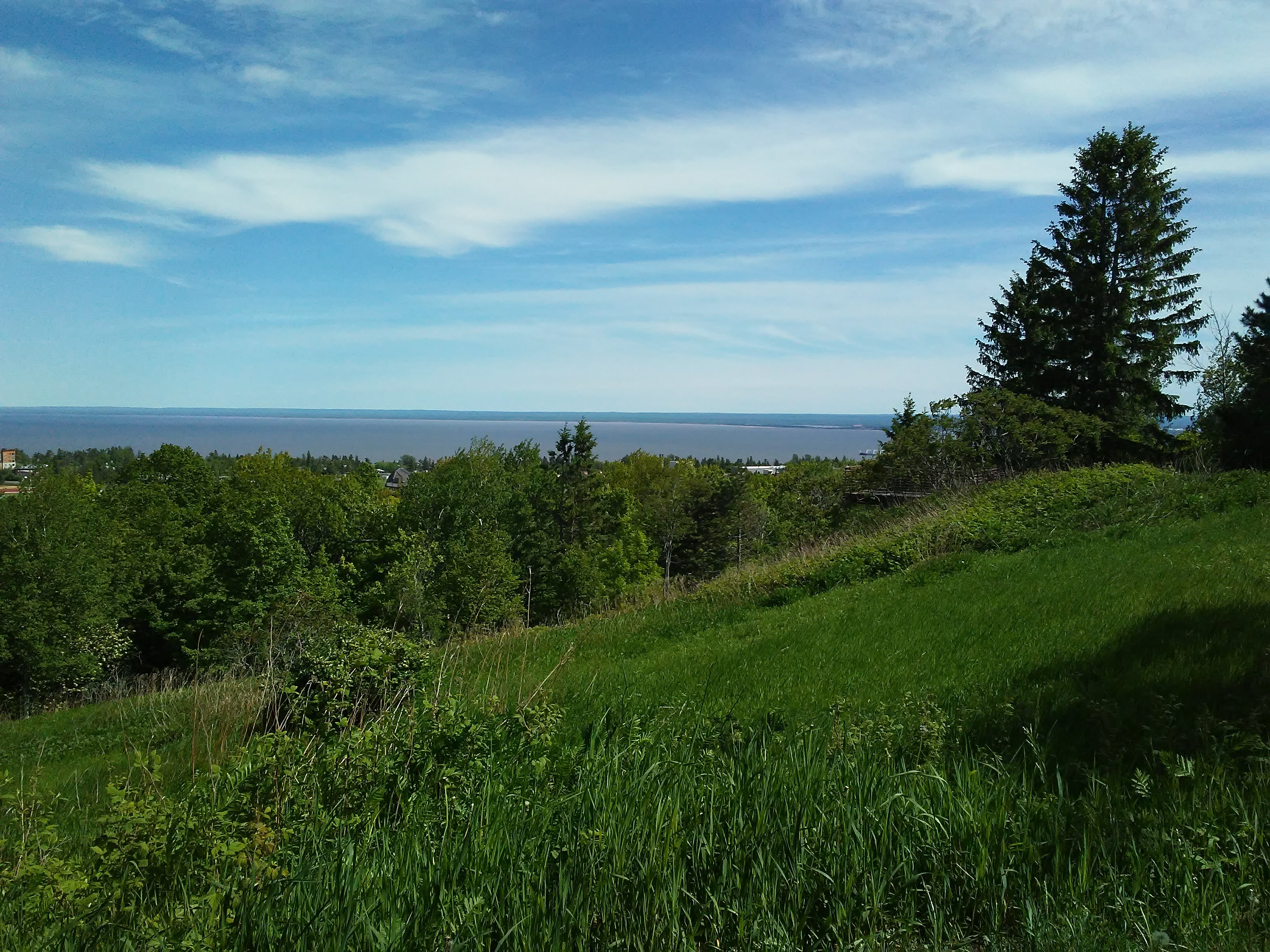 View from the overlook in Bagley Nature Area, Duluth, Minnesota facing southeast.