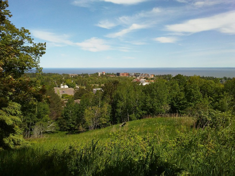 View from overlook at Bagley Nature Area, Duluth, Minnesota. Facing East.