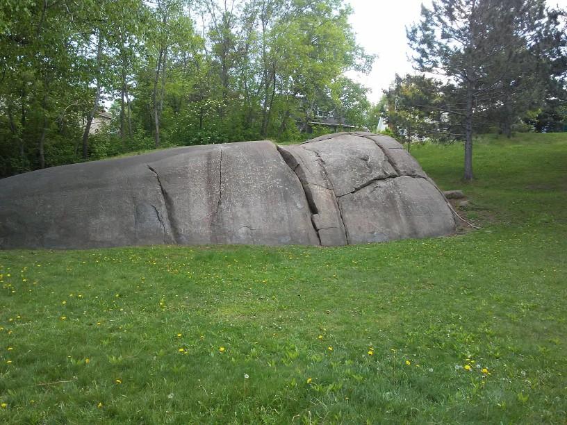 huge rock in a park