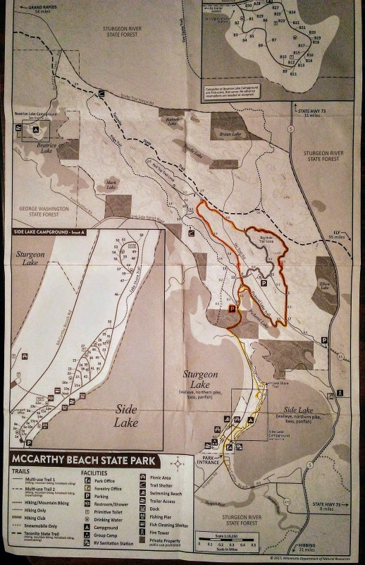 Map of McCarthy Beach State Park