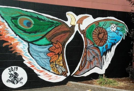mural of butterfly wings
