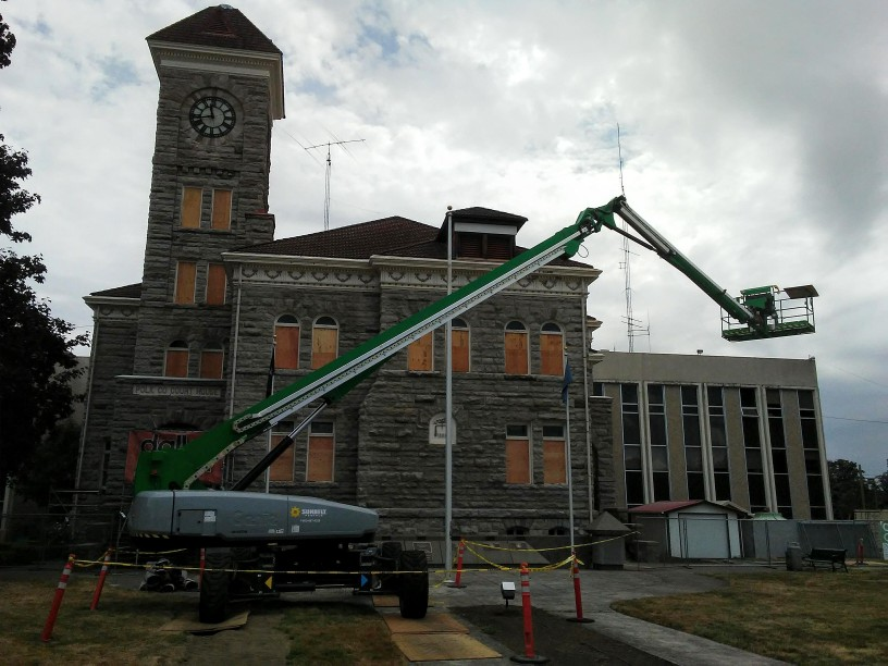 courthouse under renovations