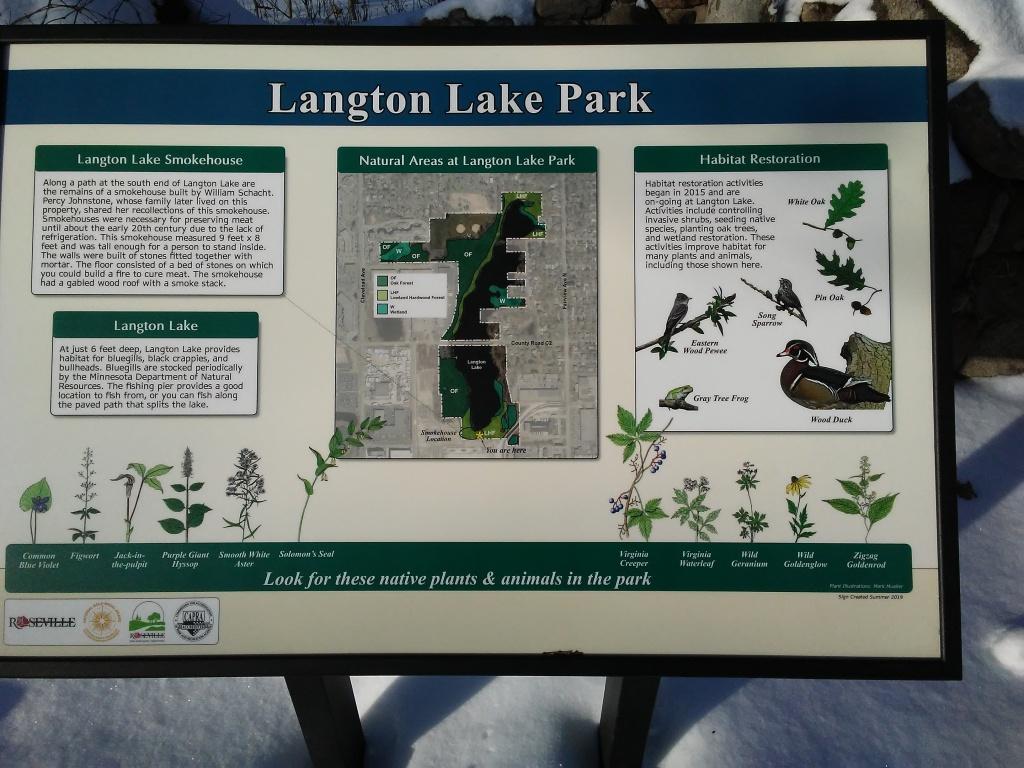 informational park sign