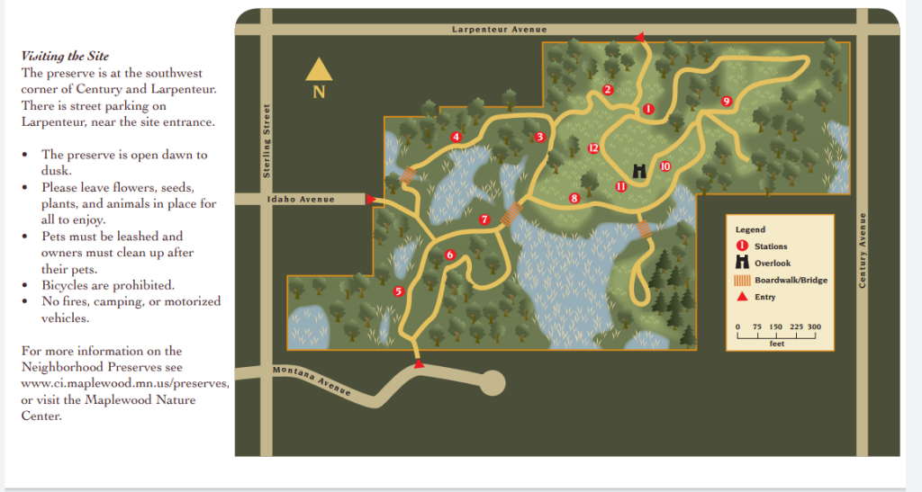 map of St. Paul Priory Neighborhood Preserve