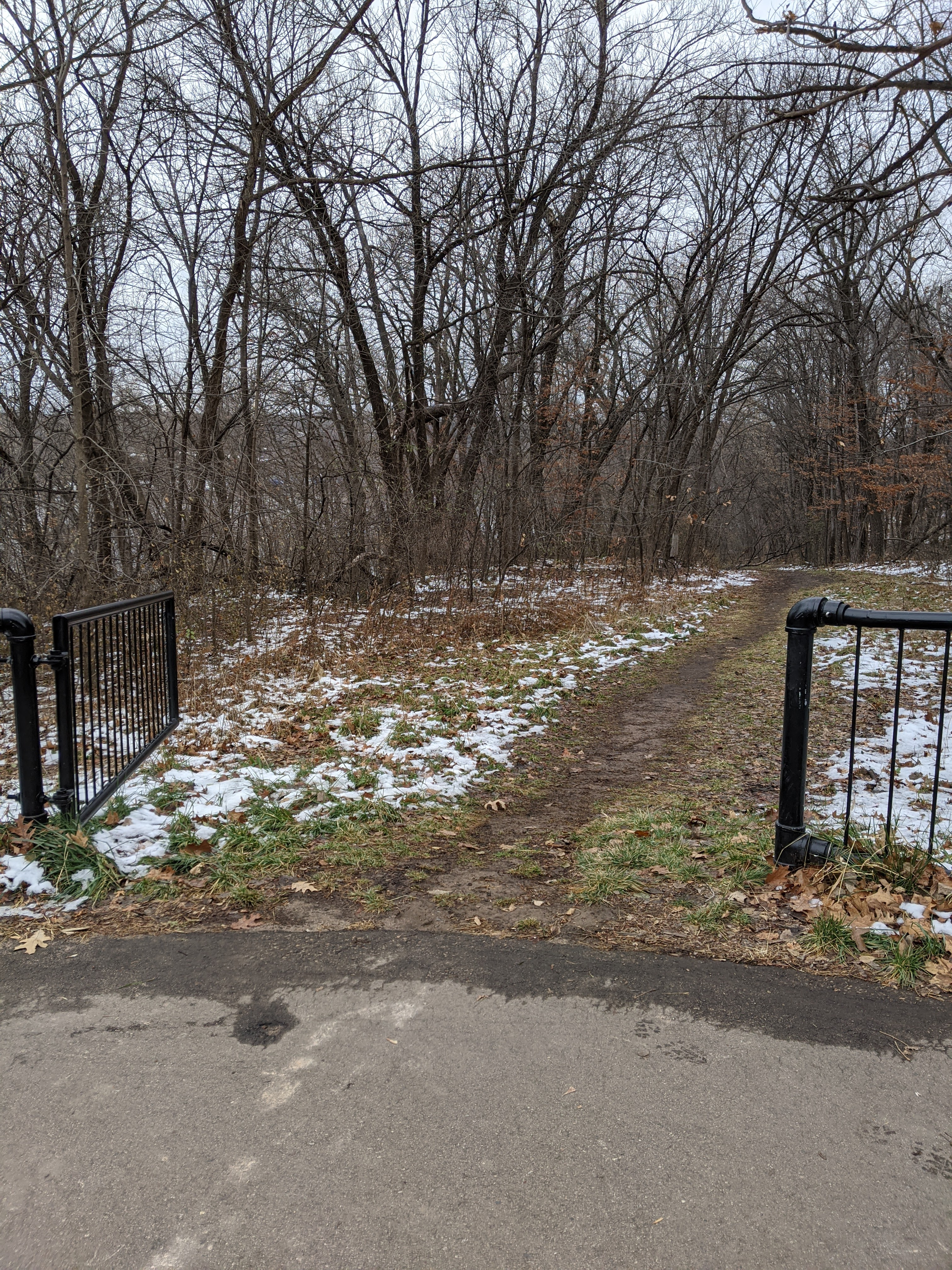 Short trail on the Wisconsin side of the St. Croix River